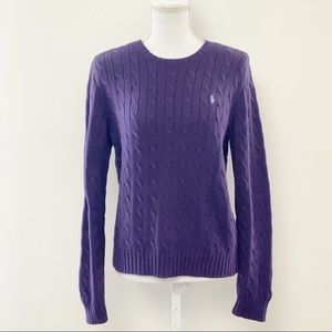 POLO by RALPH LAUREN- Classic Cable Knit Sweater
